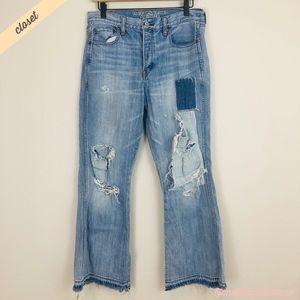 [AE] Destroyed Vintage Hi-Rise Flare Jeans